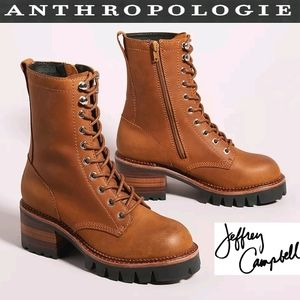 JEFFREY CAMPBELL ANTHRO Sycamore Chic Combat Boots